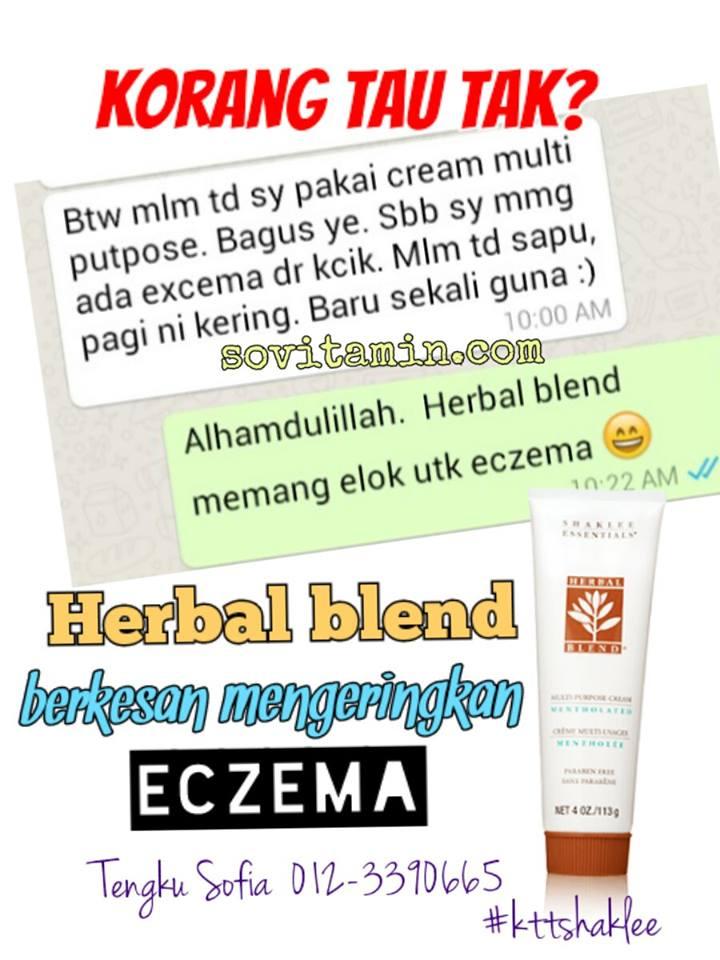 herbal blend mengeringkan eczema