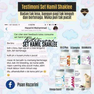 testimoni set hamil shaklee