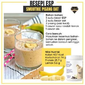 Resipi ESP Smoothie Pisang Oat